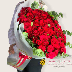 100wardeh red roses in amman jordan gifts