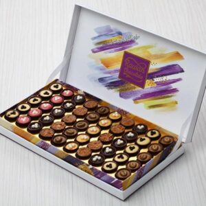 TRUFFLE CHOCOLATE - Cups of chocolate with fillings of mango cream - strawberry- Toffee caramel