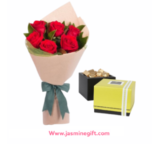 Red Roses and Patchi Chocolates 250gm