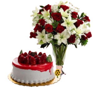 Special-Offer-Strawberry-Cake-Flowers-send flowers and cakes to amman jordan