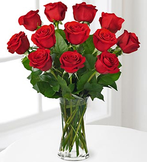 Red rose included vas