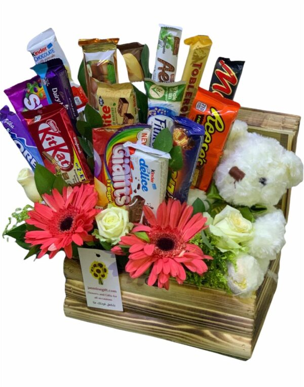 Chocolate flowers and a bear gift to Amman, Jordan