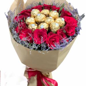 flowers and ferrero bouquet amman send gift