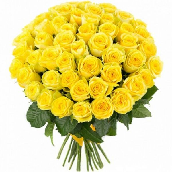 50 Yellow Roses-You can also coordinate with it the best types of chocolate, such as Patchi or Ferraro Rocher