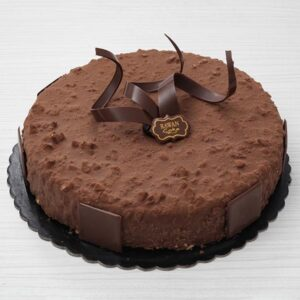 Ferrero Rocher Mousse Cake - A chocolate cake layer coated with a layer of mousse Ferrero,