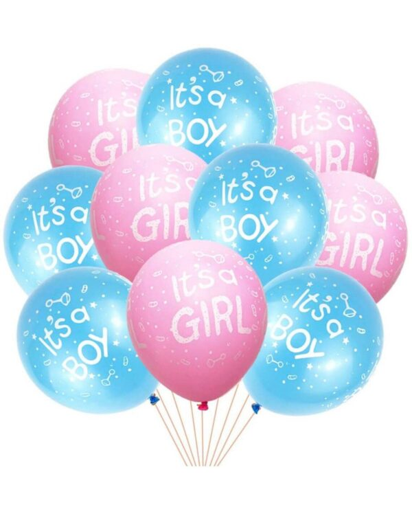 If you want a small batch of balloons for the occasion, this is the best choice for you . The shape of the balloons may change a little, but the content will not change, it's for a new baby .