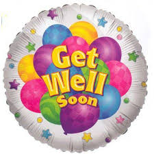 Get Well Soon Balloons-This type of balloon is very special Its shape may differ slightly from the picture, but the content of the balloon is the same