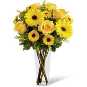Yellow Roses and Gerbara -